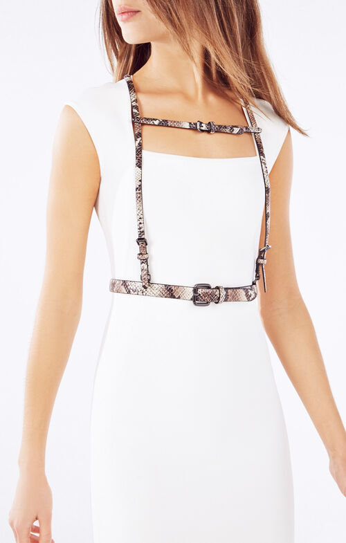 Python Faux-Leather Harness
