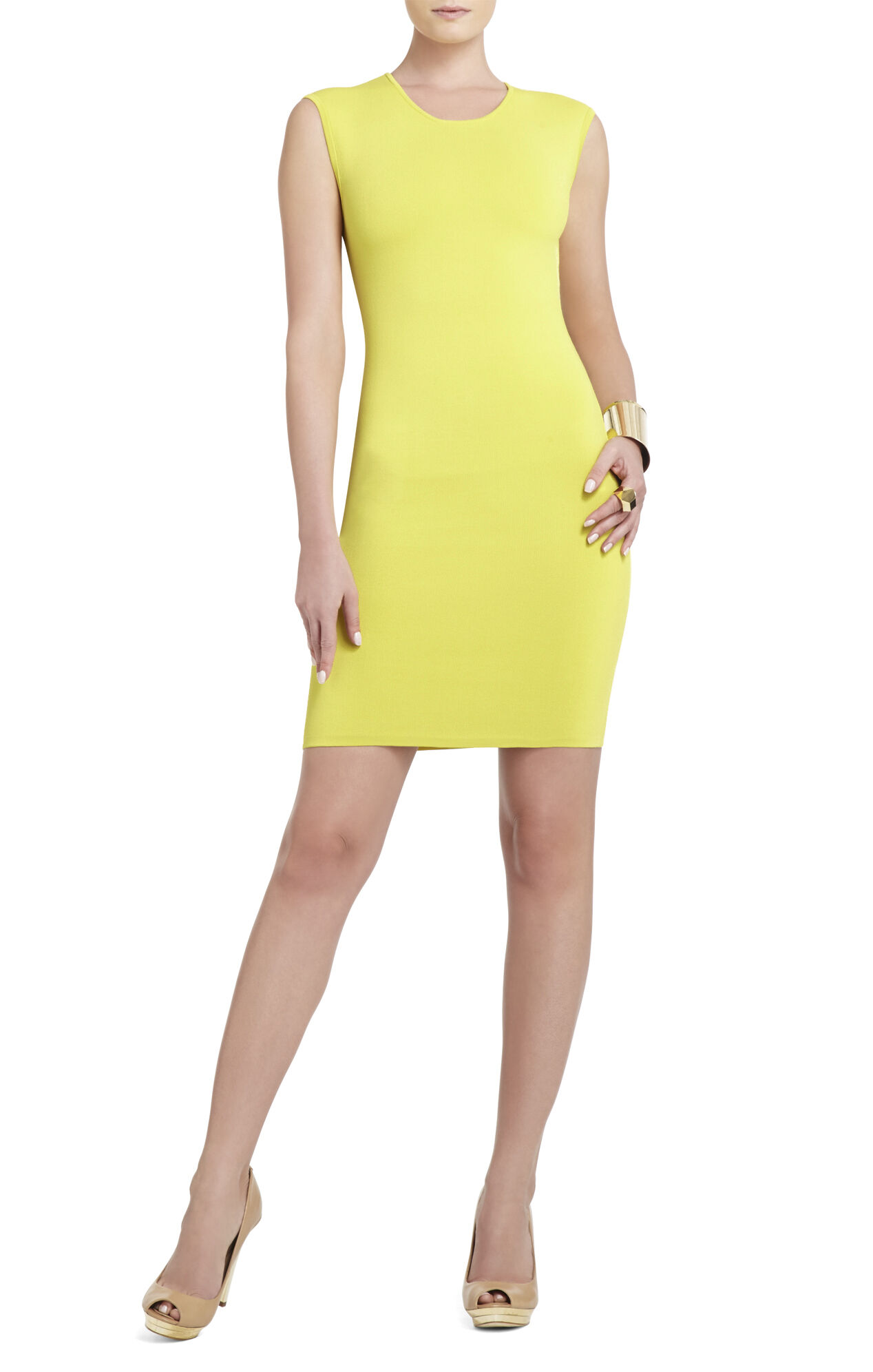 Uma Sleeveless Crewneck Dress