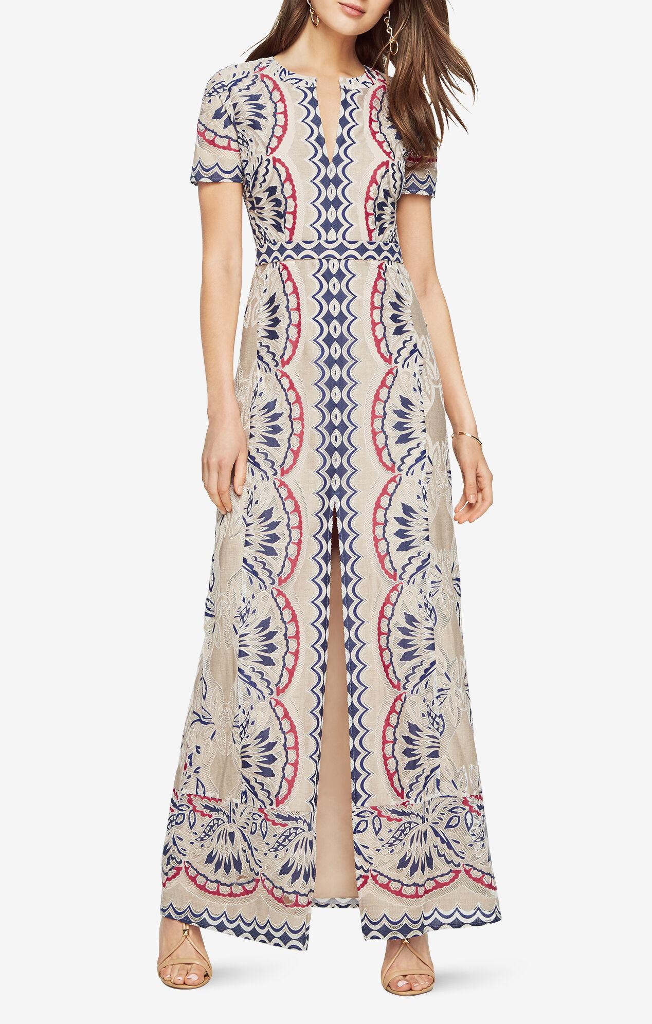 Cailean Burnout Print Gown