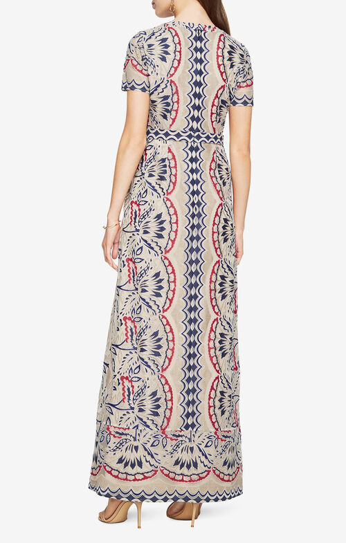 Cailean Burnout Print Dress