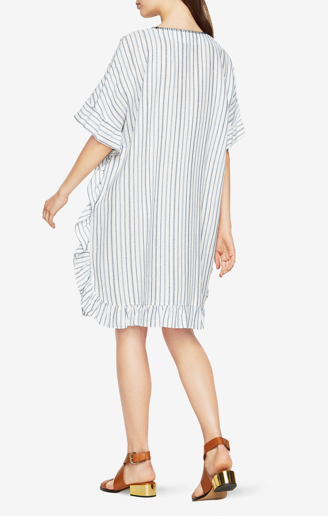 Dove Striped Kaftan Dress