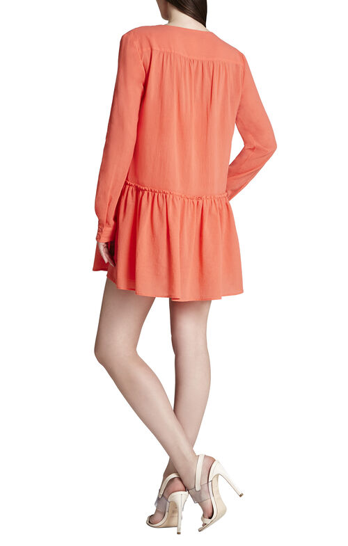 Lauryn Long-Sleeve Peasant Dress