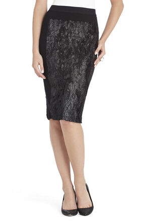 Ines Coated Fur Pencil Skirt