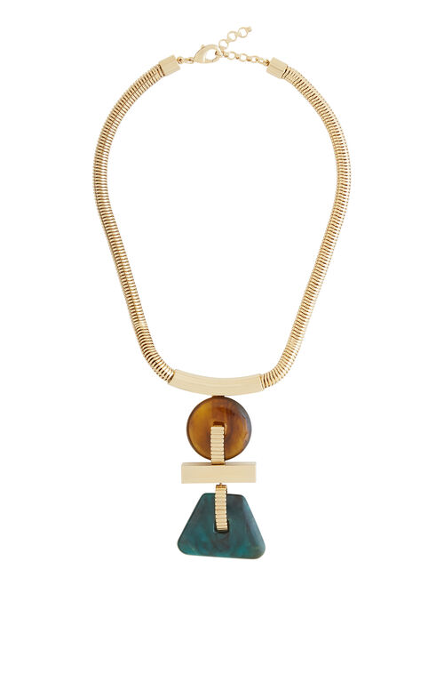 Geometric Plate Necklace