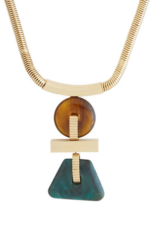 Geometric Plate Necklace