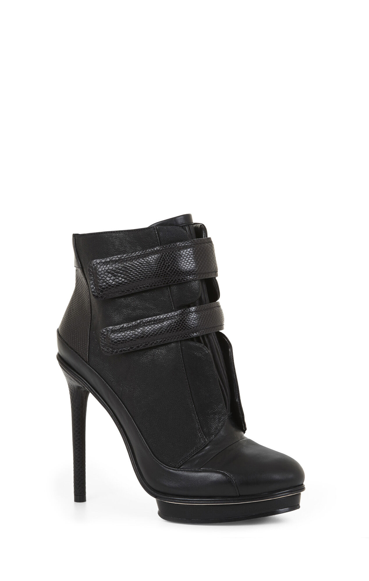 Night Sneaker-Strap High-Heel Bootie