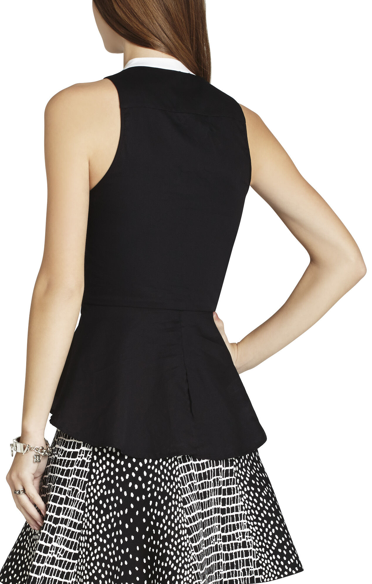 Jordin Sleeveless Peplum Top