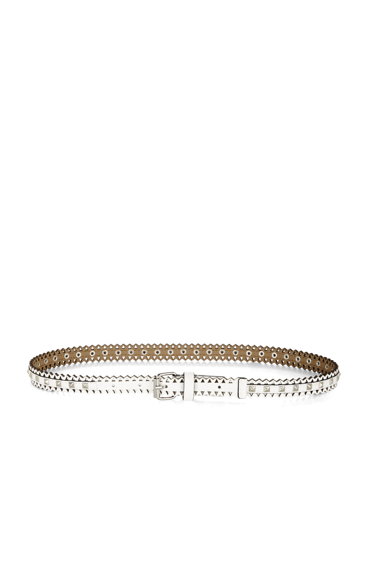 Studded Perforated Waist Belt