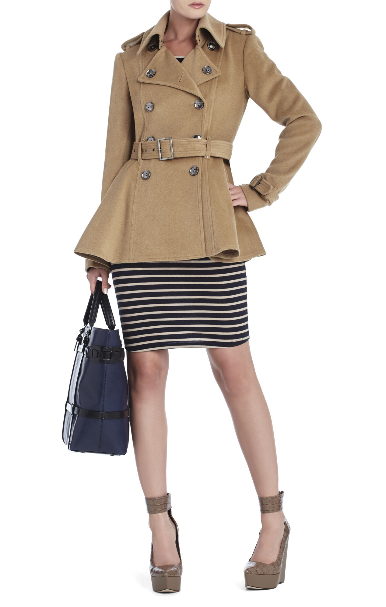 Peplum Trench Coat