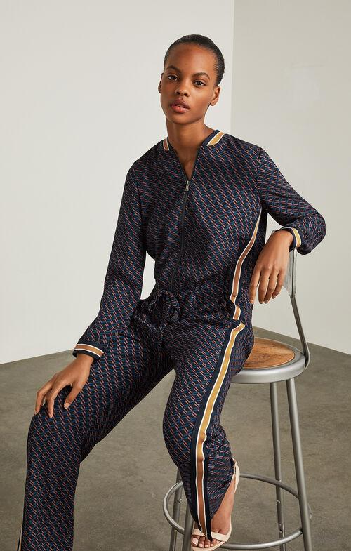 Anson Geometric Print Jumpsuit