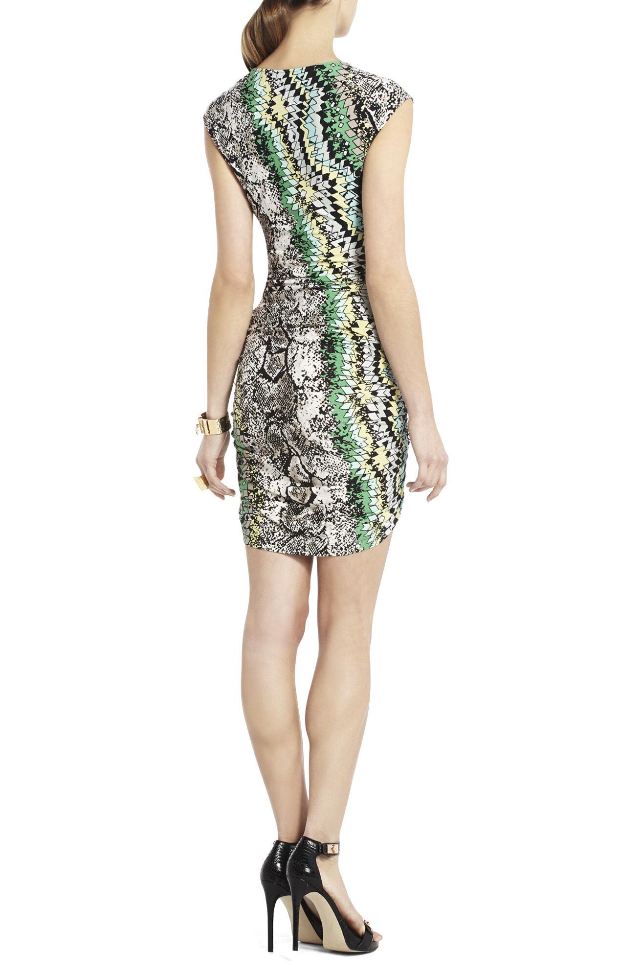 Dell Zipper Shirring Dress
