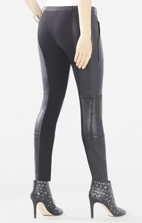 Connor Faux-Leather Cargo Legging