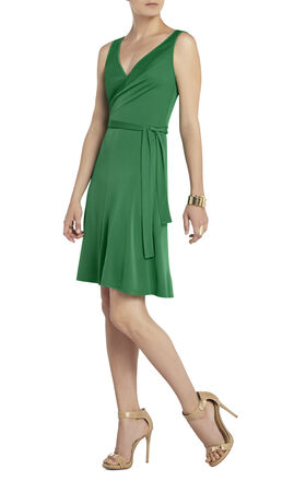 Iris Front-Wrap Tie Dress