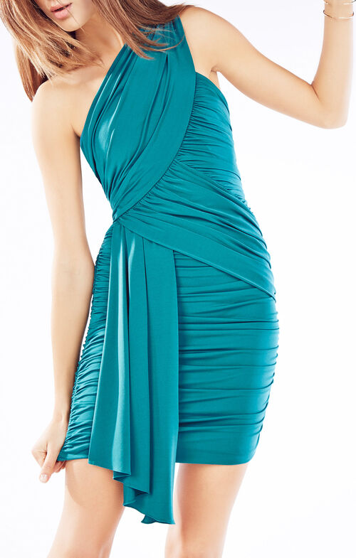 Caci One-Shoulder Ruched Dress