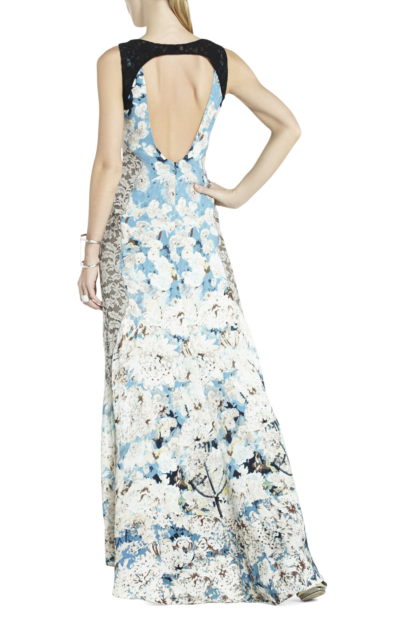 Provence Sleeveless Open-Back Gown