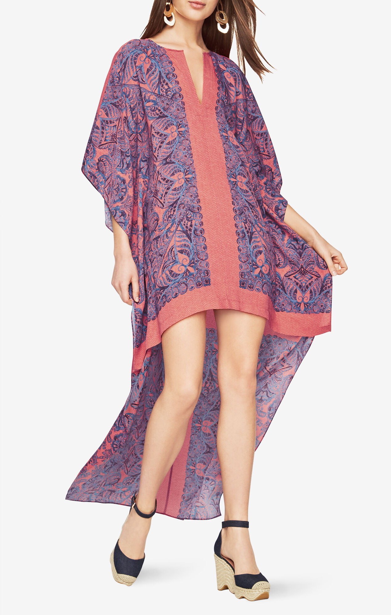 Cristen Paisley-Print Dress