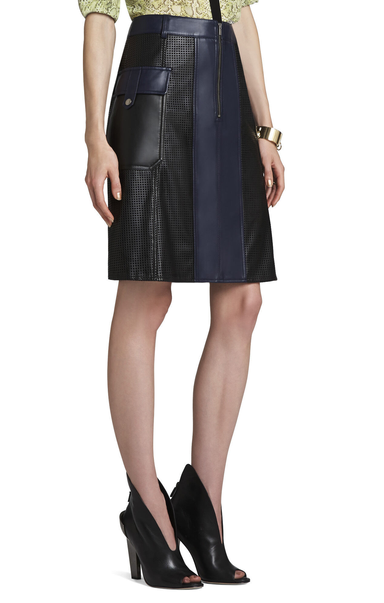 Raya Perforated A-Line Skirt