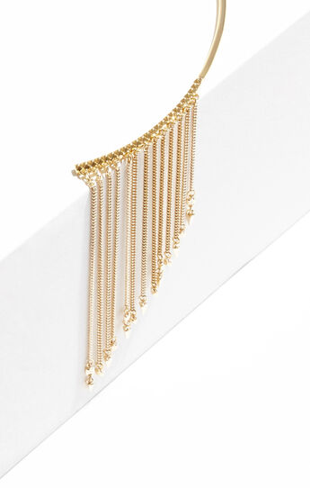 Pave Chain Collar Necklace