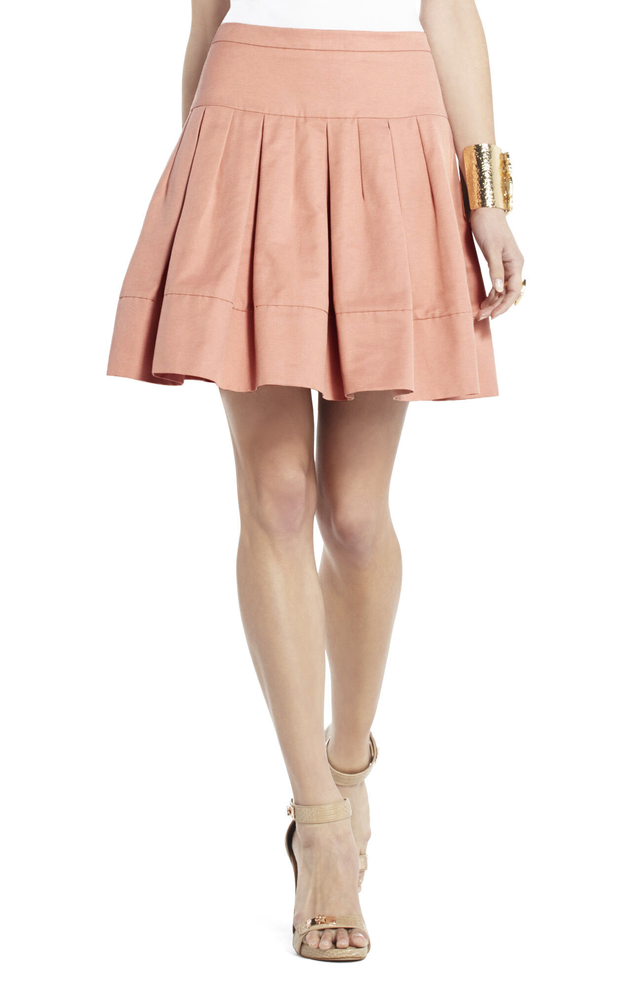 Aria Pleated A-Line Skirt