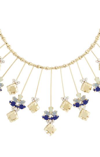 Square Stone Sunburst Necklace