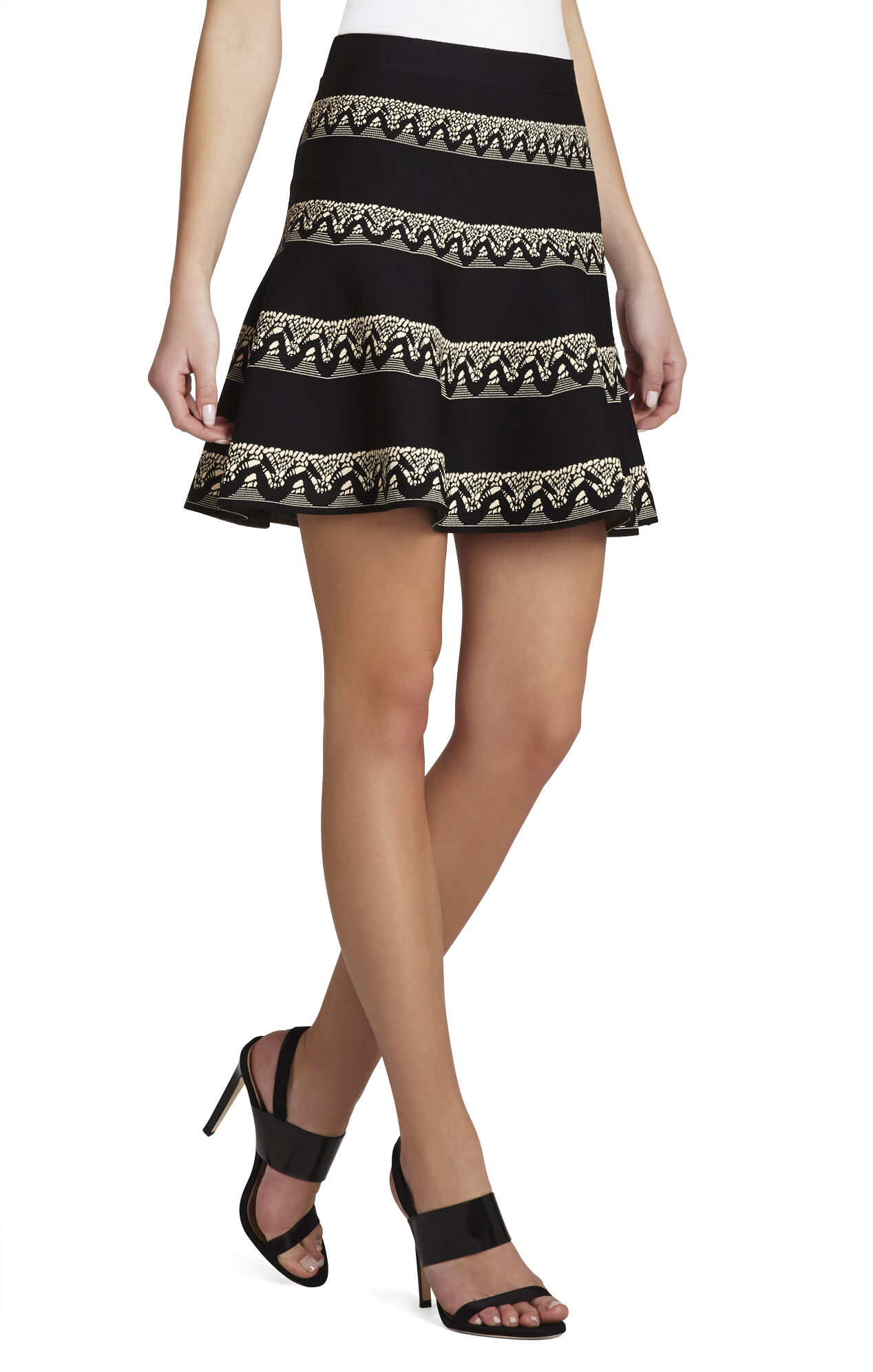 Jania Jacquard Flared Skirt