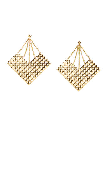 Studded Plate Earrings