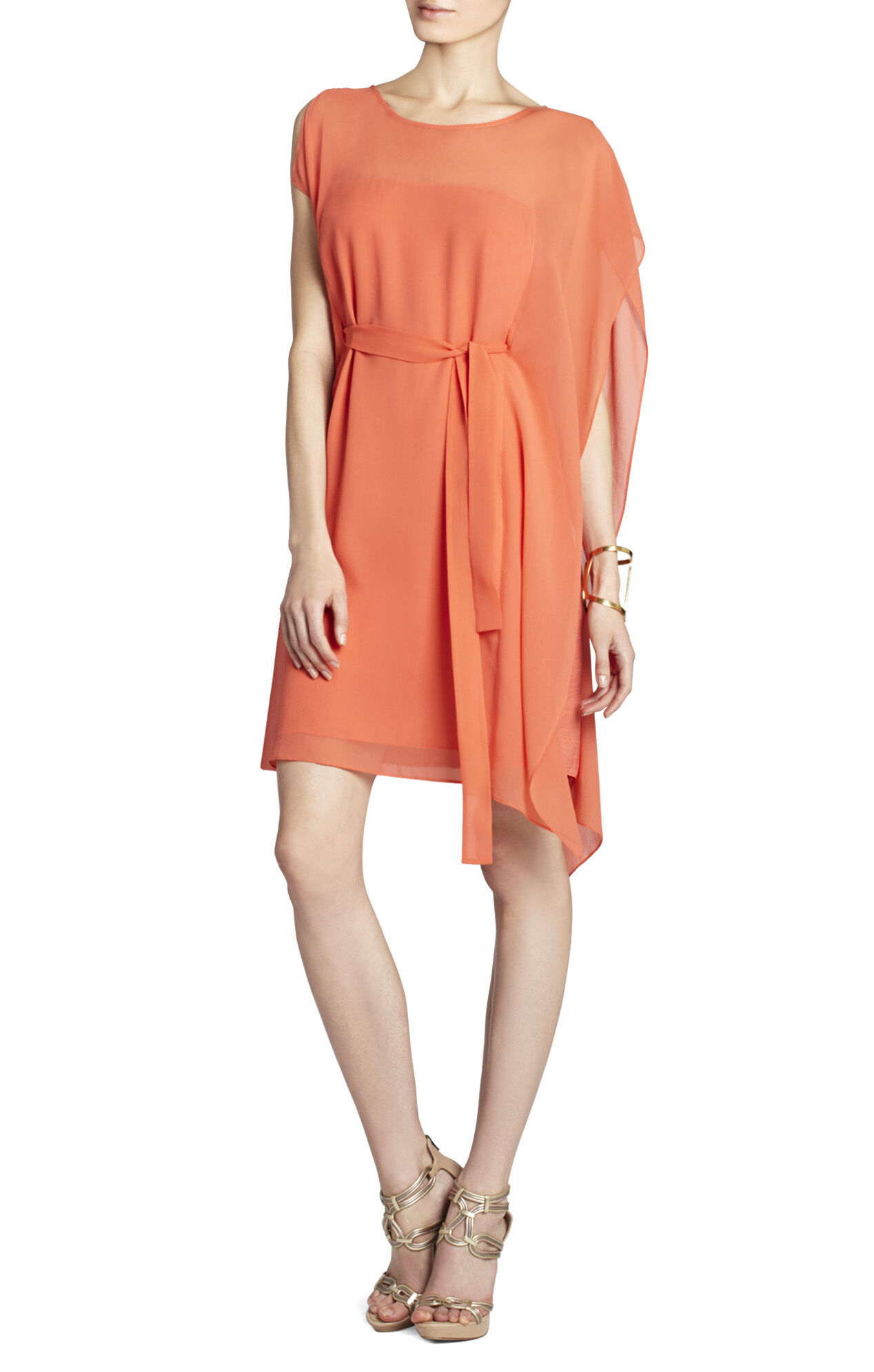 Corissa Silk Dress With Drape Sleeves