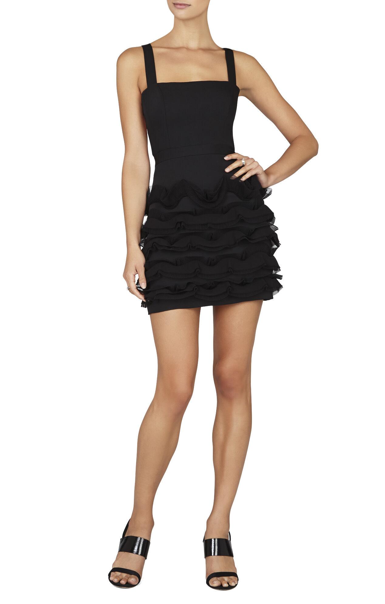 Rebecka Cutout-Back Ruffle Dress