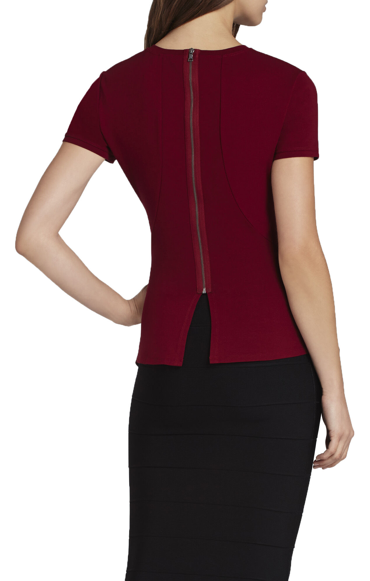 Scarlet Short-Sleeve Peplum Top