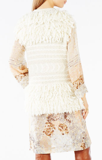 Afton Wool Blend Fringe Vest
