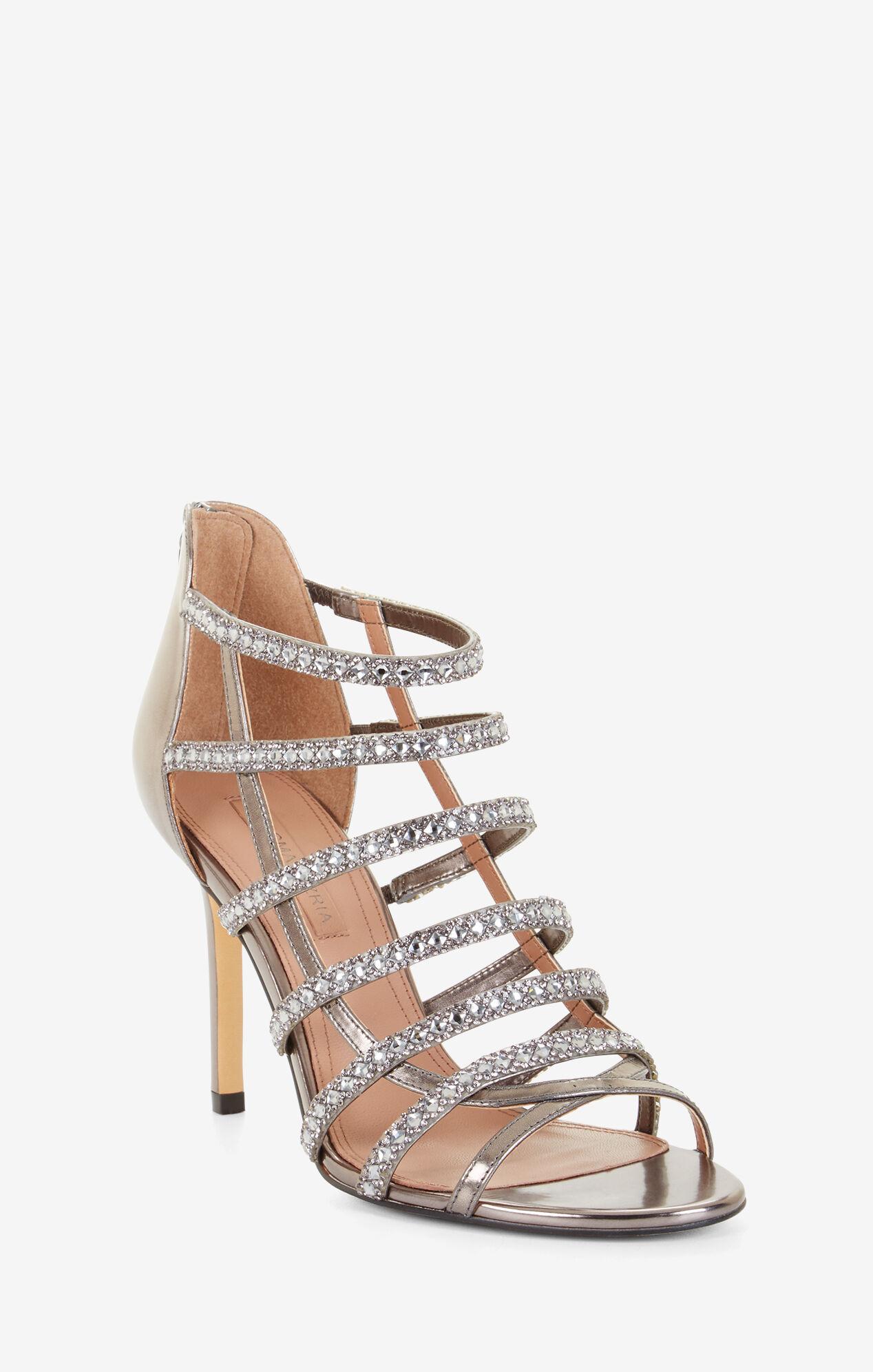 Louvain Metallic Crystal Sandal