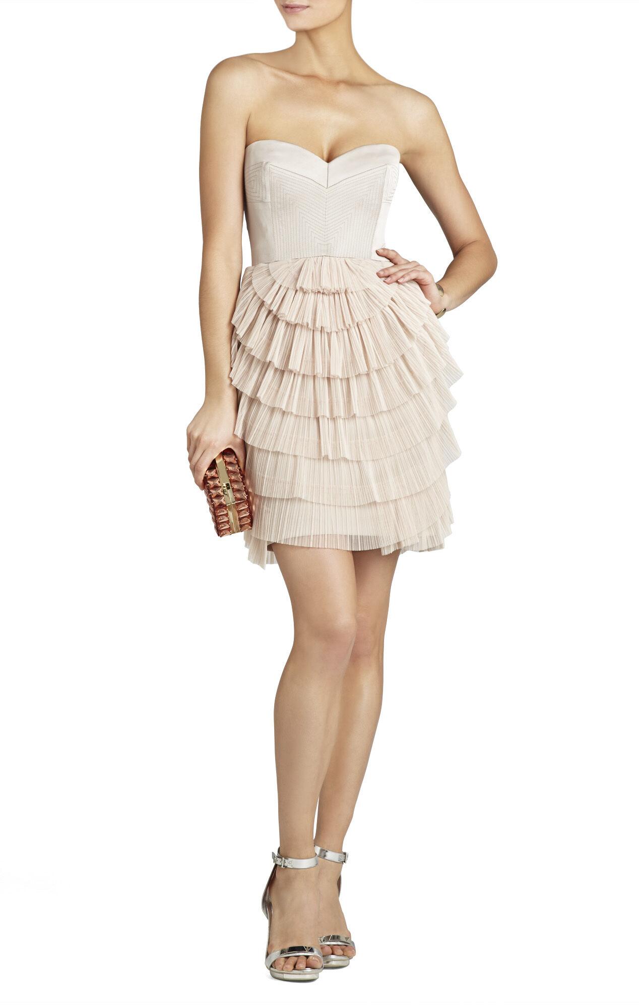 Sas Strapless Pleated-Skirt Dress