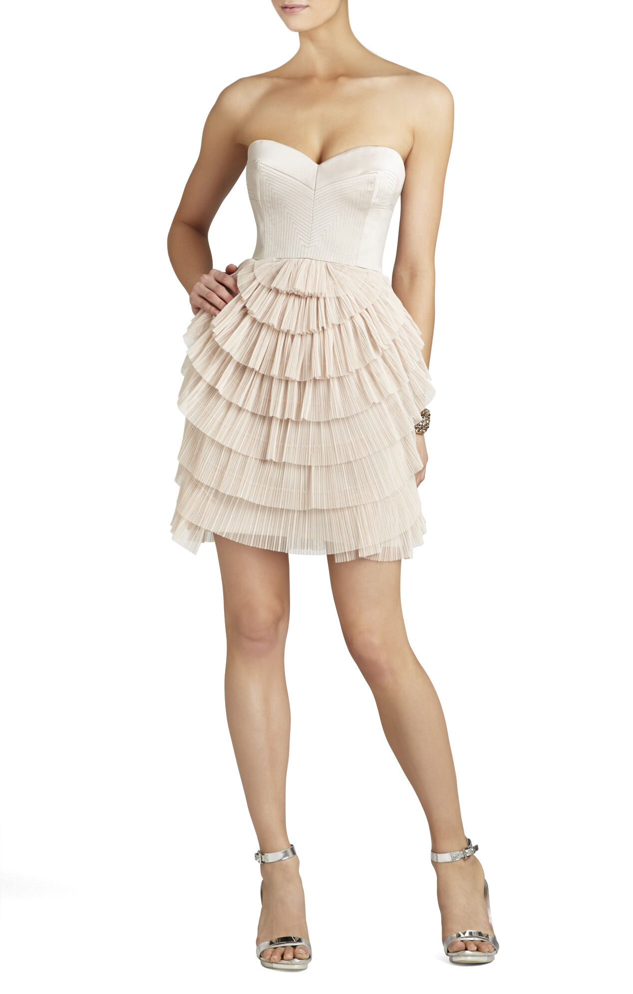 Sas Strapless Pleated-Skirt Dress
