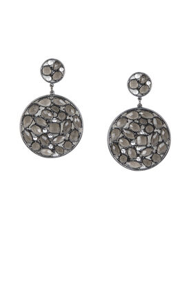 Stone Disc Earrings