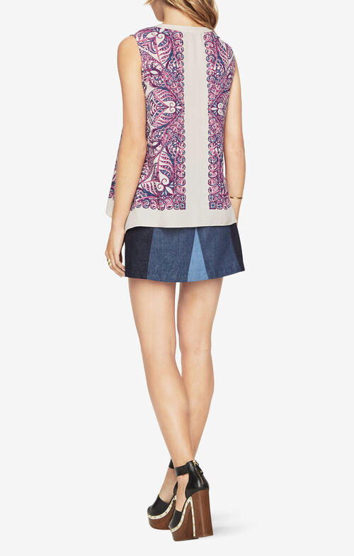 Randi Paisley-Print Top