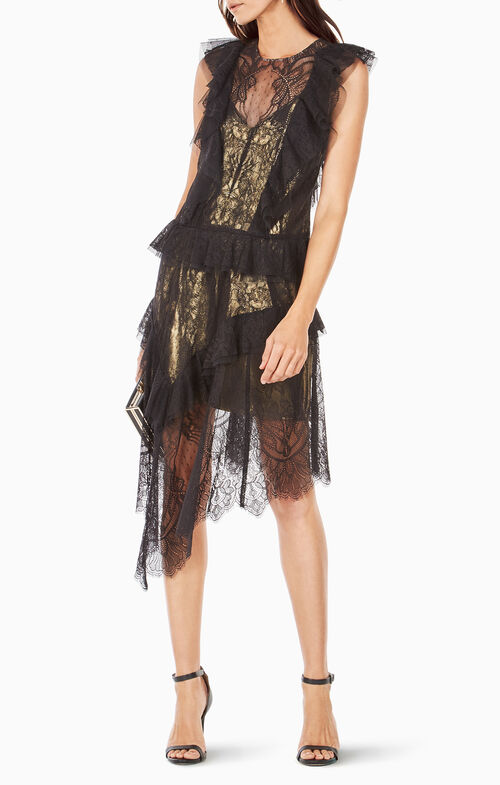 Kailin Ruffled Lace Dress