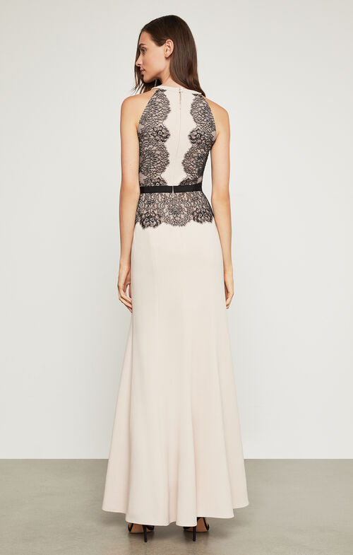 Georgianna Lace-Blocked Gown