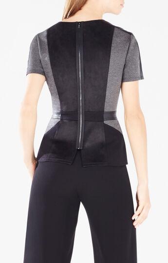 Cassaundra Short-Sleeve Color-Blocked Top