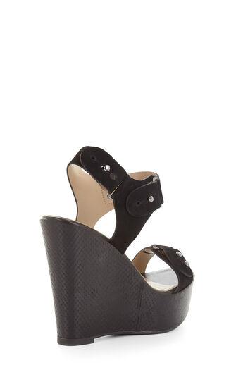 Minea Snakeskin Wedge Sandal