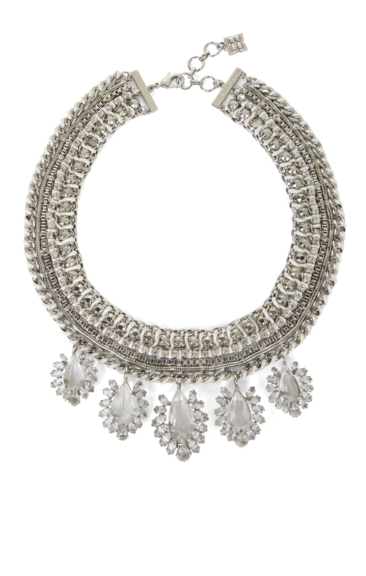 Woven-Chain Statement Necklace