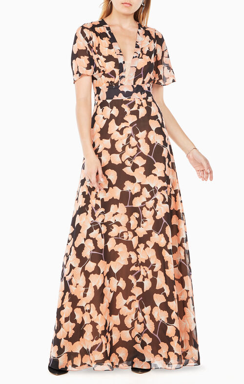 Anaelle Floral-Print Silk Dress