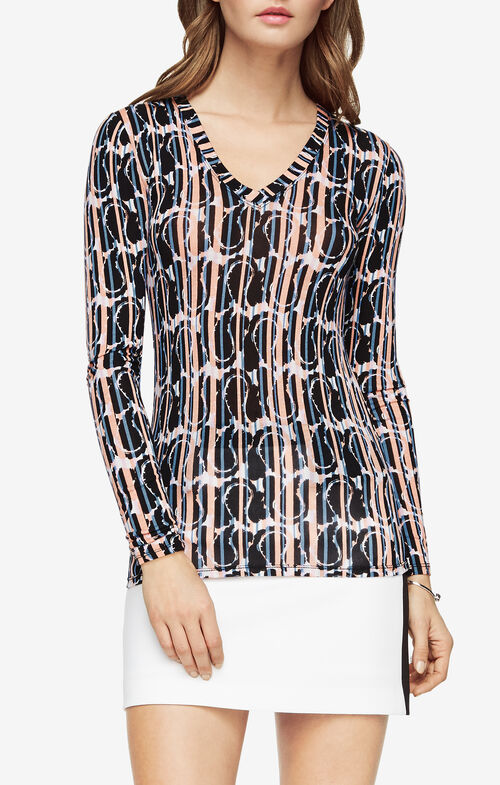 Jan Paisley-Print Top