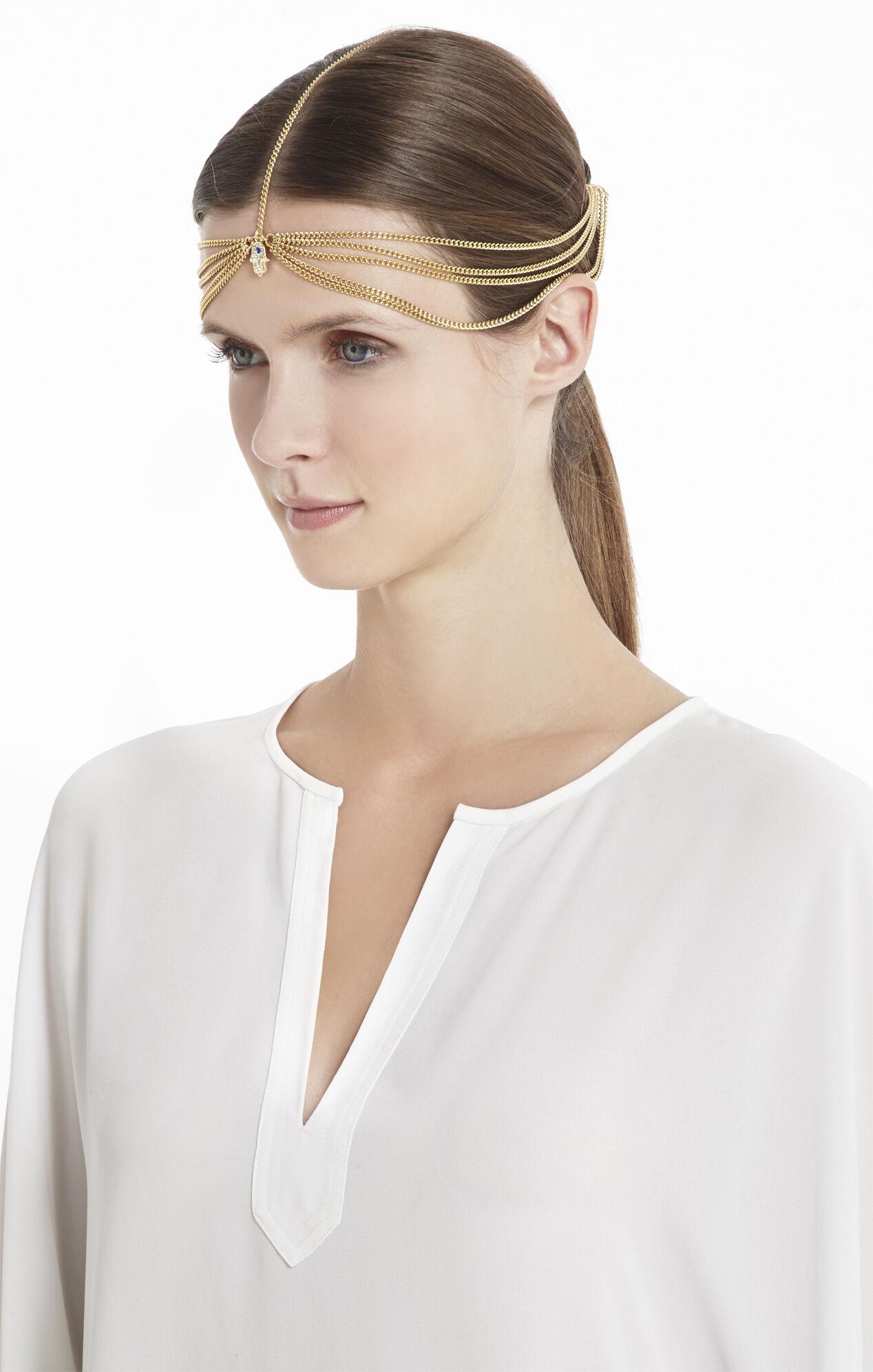 Hamsa-Hand Tri-Chain Elastic Headband