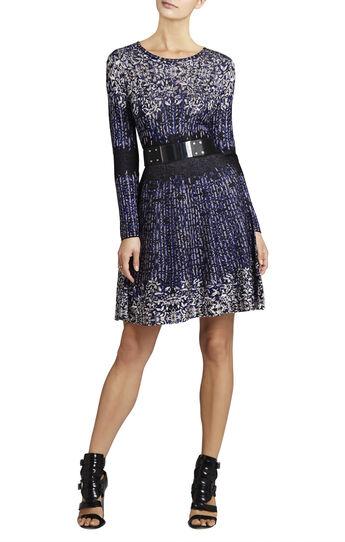 Kirsten A-Line Jacquard Dress