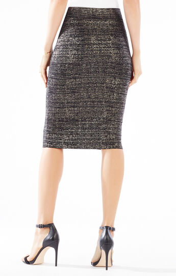 Foil Print Power Skirt