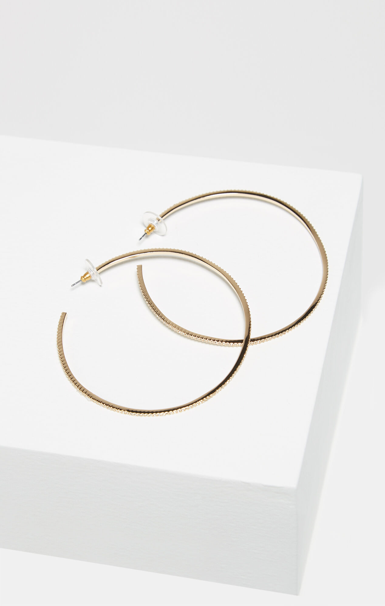 Pave Hoop Earrings