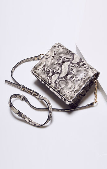 Bristol Snake Print Leather Mini Crossbody