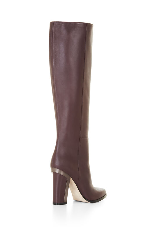 Oak High-Heel Leather Knee Boots
