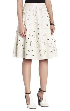Elsa Flower Cutout A-Line Skirt