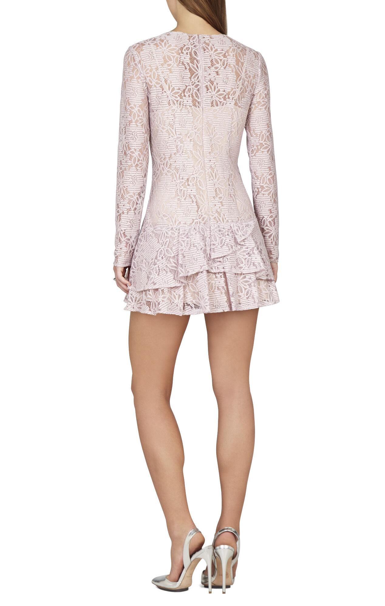 Lysa Asymmetrical Flounce Lace Dress